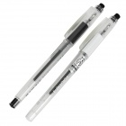 M&G VAKP-61110 Erasable Gel-ink Pens - Transparent + Black + White (2 PCS)