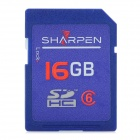 SHARPEN SDBC6-16G High Speed Flash Memory SDHC Card - Blue (Class 6 / 16GB)