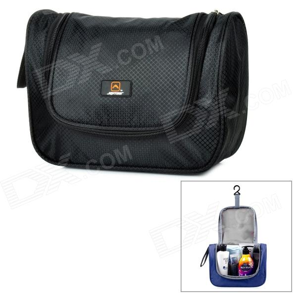 JOYTOUR JT2012 Outdoor Travel Water Resistant Nylon Toiletry Kits Storage Bag - Black