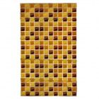 DECOIN Grid Pattern Aluminum Foil Oil-proof Kitchen Sticker - Brown