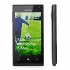 "HUAWEI W1 Windows Phone 8 WCDMA Bar Phone w/ 4.0"" Capacitive Screen, Wi-Fi and GPS - Black"