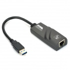 USB 3.0 to 10 / 100 / 1000Mbps RJ45 LAN Ethernet Network Adapter - Black