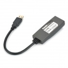 USB 3.0 a 10 / 100 / 1000Mbps RJ45 LAN Ethernet Network Adapter - negro