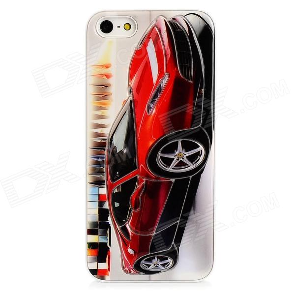 Cool Car Style Protective Plastic Back Case for Iphone 5 - Red