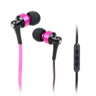 AWEI S50VI Flat Cable In-Ear Earphone w/ Microphone for Iphone 4 / 4S / 5 / Ipad - Purple + Black