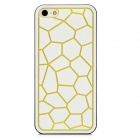 Water Cube Style Protective Plastic Back Case for Iphone 5 - White + Green + Black