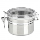 DAPAI 01 Stainless Steel Food Storage Canister / Seal Pot / Can - Silver + White + Transparent