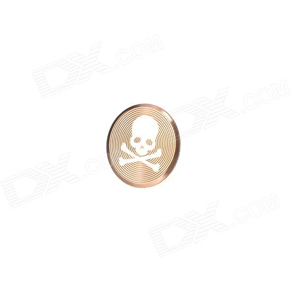 Skull Style Protective Decorative Home Button Sticker for Iphone / Ipad / Ipod - Coffee