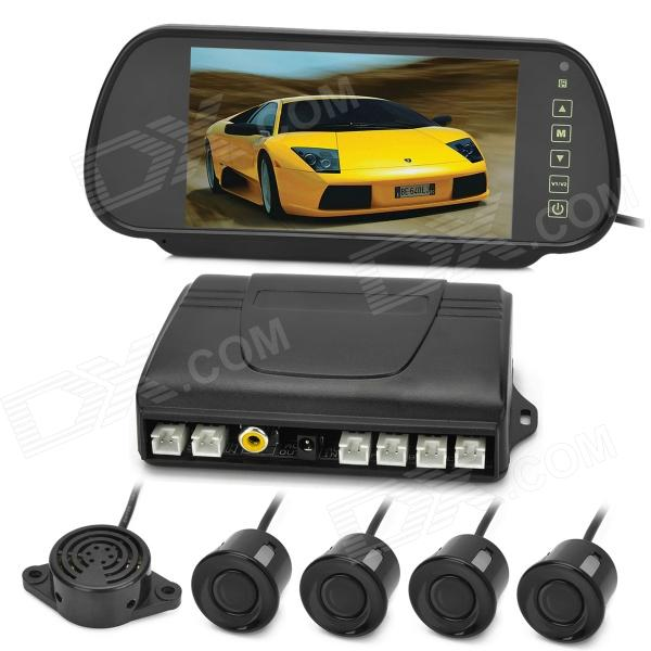 PZ608 7 HD LCD TFT Screen Back View Display + HD Camera Parking Sensors Tool Set - Black 940 0 3 mp 1 3 cmos network ip camera w 2 0 lcd time display black 1 x 18650
