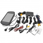 "PZ608 7"" HD LCD TFT Screen Back View Display + HD Camera Parking Sensors Tool Set - Black"