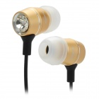 CoGoo!! T69 High-Performance 3.5mm Jack Crystal In-Ear Earphones - Black + Golden
