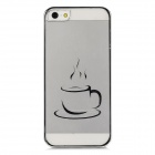 Stylish Cup Style Laser Pattern Protective Back Case for Iphone 5 - Silver + Transparent