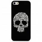 Glow-in-the-Dark Relief Skull Style Protective TPU Back Case for Iphone 5 - Black + White