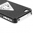 Eye of Providence Style Protective Frosted Back Case for Iphone 4 / 4S - Black + White