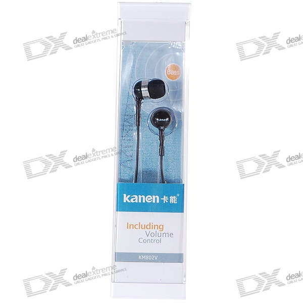 Kanen KM802V Noise Isolation In-Ear Stereo Earphones with Volume Control (3.5mm Jack/124cm Cable) social housing in glasgow volume 2