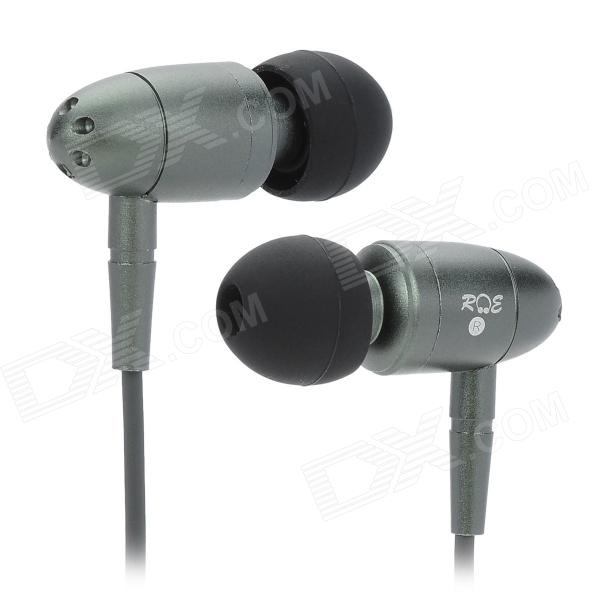 RE A6-F Bullet Style In-Ear Stereo Earphone - Deep Grey + Black 1more super bass headphones black and red