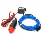 Decorative Car Charger Power 0.5W 20lm 490nm LED Blue Light EL Flexible Strip - Blue + Black + Red