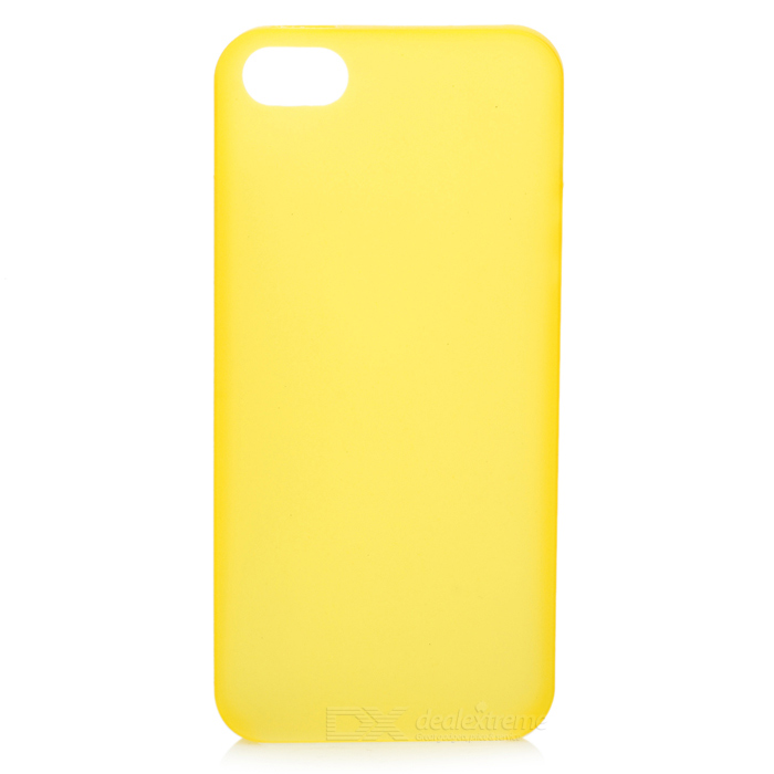 Simple Protective TPU Back Case for Iphone 5 - Yellow