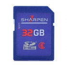 SHARPEN SDBC6-4G High Speed Flash Memory SDHC Card - Blue (Class 6 / 32GB)