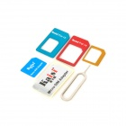 Nano SIM / Micro SIM / SIM Card Adapter for IPHONE - Red + Blue
