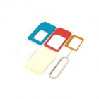 Nano to Micro SIM + Nano SIM to SIM + Micro SIM to SIM Adapter w/ Eject Tool for Iphone 4 / 4S / 5