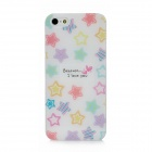Five-Pointed Star Pattern Protective Plastic Hard Back Case for Iphone 5 - Multicolored