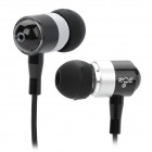 RE R1108 Aluminium Alloy In-Ear Stereo Earphone - Black