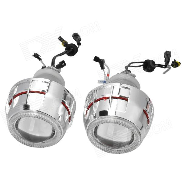 "2.8"" H1 / H7 / H4 / 9005 / 9006 35W 2800lm White B-Xenon Projector Lens Angel Eyes - (12V / 2 PCS)"