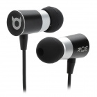 RE A6-A Bullet Style In-Ear Stereo Earphone - Silver + Black
