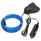Decorative Flexible 0.5W 20lm 490nm LED Blue Light EL Strip w/ Sound Sensor for Car - Blue + Black
