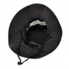 Outdoor Polyester Sunblock Soft Quick Dry Hat Cap for Fishing / Camping / Cycling - Black