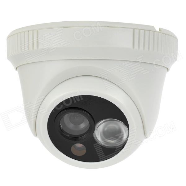 CP3312AW 1/3 CMOS 600Lines CCTV Surveillance Security Camera w/ 1-IR LED Night Vision - White zea afs011 600tvl hd cctv surveillance camera w 36 ir led white pal