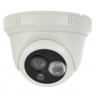 CP3312AW 1/3 CMOS 600Lines CCTV Surveillance Security Camera w/ 1-IR LED Night Vision - White