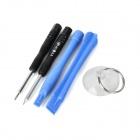 5-in-1 Disassembly Open Tools Set for IPHONE - Blue + Black + Silver