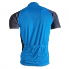 NUCKILY NJ601 Bike Bicycle Cycling Breathable Short Sleeve Suit Jersey - Blue (Size XL)