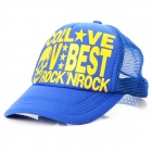 Outdoor Sport  Polyester Cotton Hat Cap - Blue + Yellow