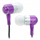 RE R1108 Aluminium Alloy In-Ear Stereo Earphone - Purple + White + Black