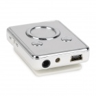 Fashionable 140mAh Li-ion Polymer Mini TF Card  MP3 Player w/ Clip - Gray + White (16GB Max.)