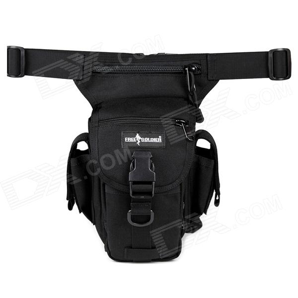 FREE SOLDIER YTB216 Multifunction Outdoor Sports Hiking Nylon Waist Bag - Black (6L) universal nylon cell phone holster blue black size l