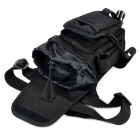 FREE SOLDIER YTB216 Multifunction Outdoor Sports Hiking Nylon Waist Leg Bag - Black