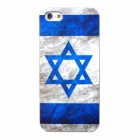 YSL-5 Israel National Flag Pattern Protective PVC Case for Iphone 5 - Blue