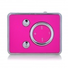 Fashionable 140mAh Li-ion Polymer Mini TF Card  MP3 Player w/ Clip - Rosy + White (16GB Max.)
