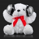 Polar Bear Style Sound Control Plush + PP Cotton Rechargeable Speaker / MP3 Player Doll - White
