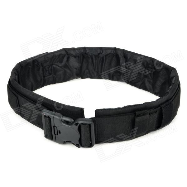 SW3059 Military Tactical Outdoor Nylon + Oxford Fiber Waist Belt - Black