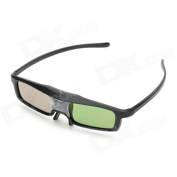 RQ401 340mAh Universal 3D Active Shutter Glasses w/ Micro USB Cable for Projector - Black