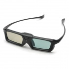 RQ400 Plastic Full-frame Polarised Lens 3D Active Shutter Glasses - Black (1x CR2025)