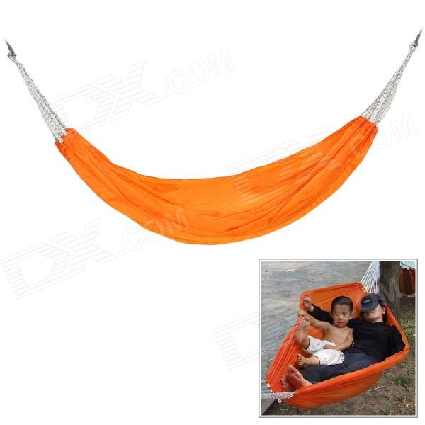 CoolChange Portable Outdoor Camping Hiking Nylon Single Swing Hammock - Orange 2 people portable parachute hammock outdoor survival camping hammocks garden leisure travel double hanging swing 2 6m 1 4m 3m 2m