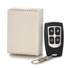 SZTY13 DC 12V 4-CH Learning Wireless Receiver w/ Water Resistant Remote Control - Beige + Black
