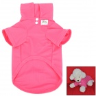 Stylish Cotton Pet Dog Polo / Tennis Shirt - Deep Pink (Size M)