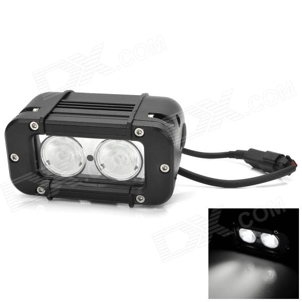 20W 1900lm 600K White Light Car Day Running / Working Lamp w/ 2-Cree XM-L LED - Black opening 20 mm tripod with lamp red circle ship type switch kcd1 105 3 feet 2 file with lamp